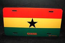 GHANAIAN FLAG GHANA RED Metal License Plate Frame Auto SUV Tag Holder
