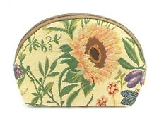 Flower Garden Tapestry Travel Makeup Bag Cute Cosmetic Pouch Toiletry Bag