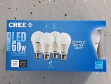 CREE 4-Pack LED A19 Light Bulbs 8.5W=60W Dimmable Daylight 5000K FREE SHIP!