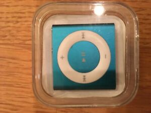 APPLE iPod SHUFFLE Turquoise Blue 4th GENERATION Charge Cable Earphones Case
