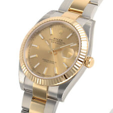 Rolex Datejust 41mm 126333 Two Tone Steel & Gold Oyster Champagne Index Dial