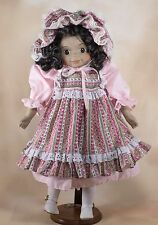 """Collector's Porcelain Doll 15"""" African American Girl"""