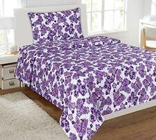 Fancy Linen 4pc Girls Full Size Sheet Set Butterfly White Purple New