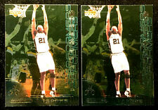 TIM DUNCAN ~ 2000 UD OVATION LEAD PERFORMERS #LP11 ~ 2 CARDS  ~ NBA HALL OF FAME