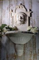 Antik Waschbecken Wandbrunnen Brunnen Garten Gartenbrunnen Weiss 90cm Medusa