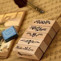 Stationery Handmade DIY Stamp Props Wooden Seal Seal Rubber Stamps Photo