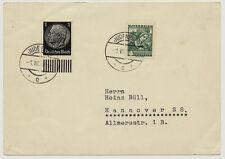 ÖSTERREICH 1938 AUSLANDSKARTE, MISCHFRANKATUR! JUDENBURG nach HANNOVER