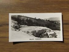 Yellowstone National  Park Pulpit Terrace  Lea Cigarettes 1938 #28