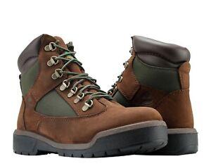 Timberland 6-Inch Waterproof Field Boot Dark Brown/Green Men's Boots A18AH