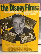 The Disney Films by Leonard Maltin 1974 Hb 3rd Printing Dj, Vg Crown Publishers