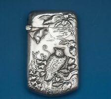 Rare Antique Sterling Silver Match Safe- Audubon Motif