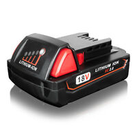 New for Milwaukee 48-11-1820 M18 18-Volt Lithium-Ion Compact Battery 2000mAh