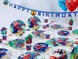Marvel SPIDERMAN  Birthday Party Supplies Tableware Balloons Decorations TEAM-UP