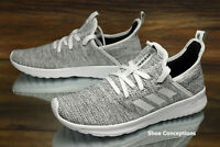 Adidas Cloudfoam Pure White Black DB0695 Running Shoes Women's Size 8 NEW