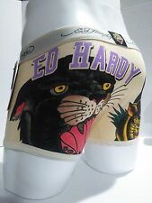 Ed Hardy Men's Underwear Panther Print  Short Boxer Briefs Size Large