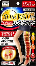 SLIM WALK Medical Lymph Pantyhoses S-M Size Pure-Beige
