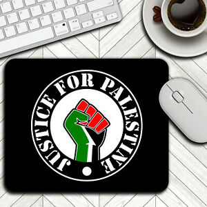 JUSTICE FOR FREE PALESTINE Print Mouse Mat Pad Office Laptop Computer PC Gaming