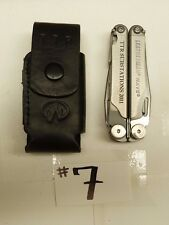 LEATHERMAN WAVE ONE LINE FOLDING MULTI TOOL KNIFE & LEATHER SHEATH CASE B18#7