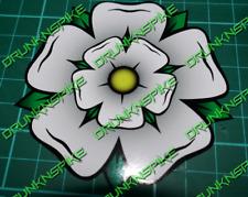 Yorkshire Rose Fade Autocollant Vinyle Pare-chocs Autocollant Voiture Fenêtre Drôle Haché