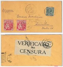 ITALIA REGNO storia postale - Sass 102 * 2 su BUSTA - CROCE ROSSA Red cross 1917