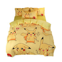Anime Pikachu Quilt Duvet Cover Sheet Bed Set Warmer Bedding Sets Baby Cashmere