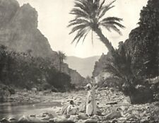 ALGERIA. Algérie. Gorges D'El- Kantara (côté sud)  1900 old antique print