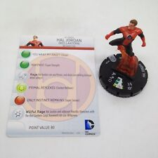 Heroclix War of Light set Hal Jordan (Red Lantern) #012a Common figure w/card