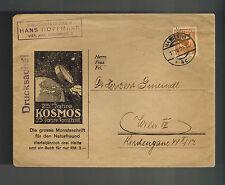1929 Vienna Austria Cover 25 years Kosmos Advertising