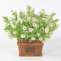 Artificial Daisy Flowers DIY Fake Green Plants Decor Outside Art Wedding