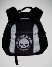Harley Davidson Backpack W/Willy G & American Legend Logo, Black, Brand New