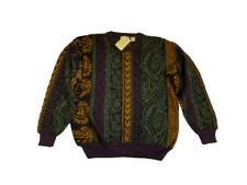 Urban Outfitters Vintage Renewal Green Baroque Print Wool Blend Jumper  Uk 14 XL