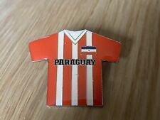 Rare Vintage Football Shirt Pin Badge Paraguay National Team 80s or 90s Large