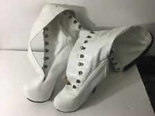 "Marilyn Moda 6"" Heel Stripper Dancer Platform White Knee Boots sz 11"