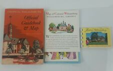 1960 Colonial Williamsburg Official Guidebook & Map - Travel Guide/Site Seeing