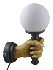 Markus Mayer Armleuchter Wandlampe links Lampe E14 Gothic Grimreaper Totenkopf