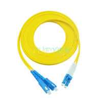 40 M LC to SC Fiber Optic Patch Cord Jumper Cable Single Mode Duplex 9/125