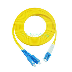 50 M LC to SC Fiber Optic Patch Cord Jumper Cable Single Mode Duplex 9/125