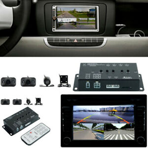Car RV 360° Full Parking View w/Front/Rear/Right/Left 4 Camera DVR Video Monitor