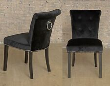 Giovanni Upholstered Padded Contemporary Dining Chair Black