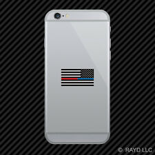 Reverse Red / Blue Line Subdued American Flag Cell Phone Sticker Mobile Police