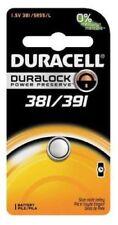 1 x 381/391 Duracell Silver Oxide Battery (AG8, LR1120, SR1120W, SR55, 191)