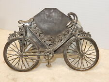 Antique Scarce Victorian Calling Card Holder In Form Of A Bicycle