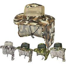 Men Boonie Snap Hat Sun Flap Cap Brim Ear Neck Cover Visor Fishing Hiking Garden