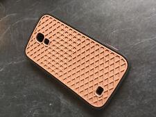 Samsung S4 Case Rubber Black Brown
