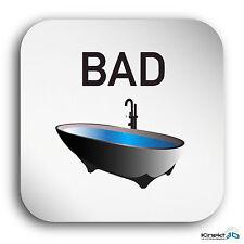 "Aluminium Schild ""Bad"" 150 x 150 mm • Badezimmer • WC • Toilettenschild • Privat"