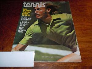 "VINTAGE "" TENNIS "" MAGAZINE - OCTOBER 1975 --- STAN SMITH COVER"