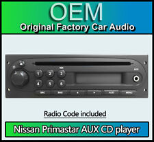 Nissan Primastar CD MP3 Player, Nissan coche estéreo, radio Código & retiro llaves