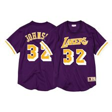 Magic Johnson Los Angeles Lakers Mitchell & Ness Men's Mesh Crew Neck Jersey