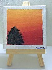 Pre-Teen Charity Art - Mini acrylic painting on wooden easel - Humane Society