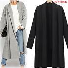 Women Outwear Winter Cotton Blend Long Slim Trench Parka Coat Jacket Overcoat US